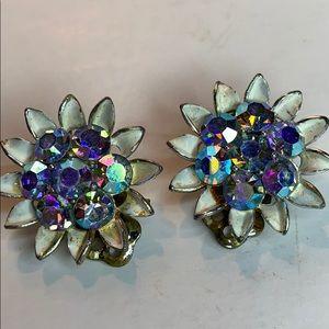 Lisner Earrings Clip Rhinestone N1